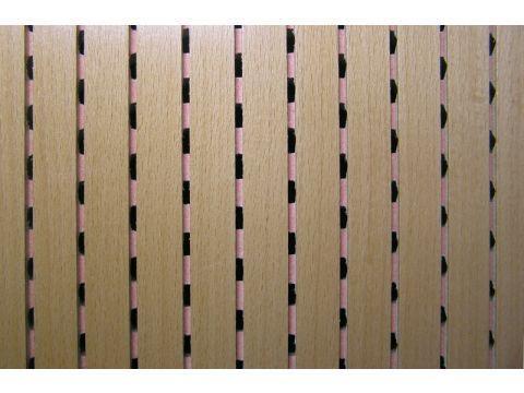 Decor Acoustic Бук Натуральный шпон бука Акустическая перфорированная панель на основе MDF