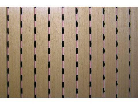 Decor Acoustic Бук Натуральный шпон бука Акустическая перфорированная панель на основе MDF, фото 2