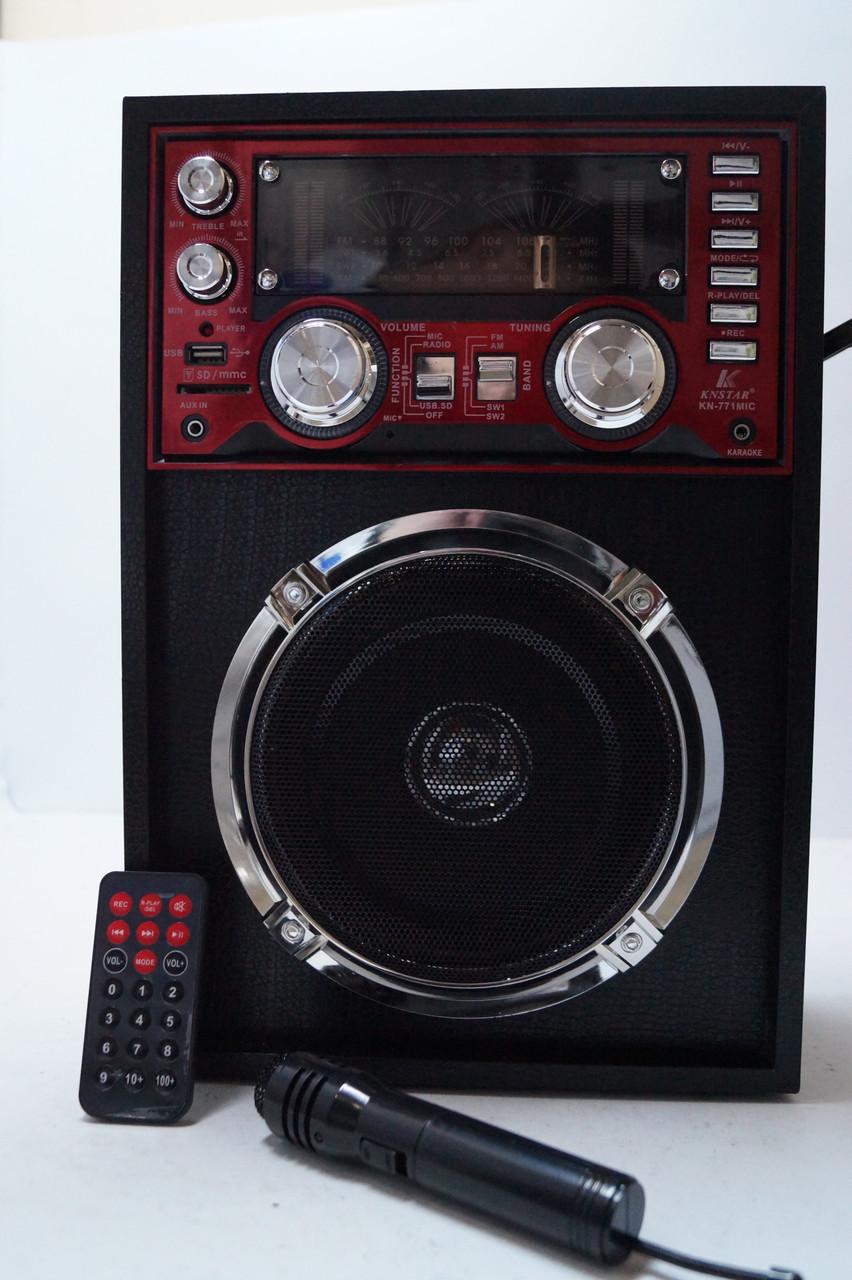Портативна колонка SD/USB KN-771mic Karaoke
