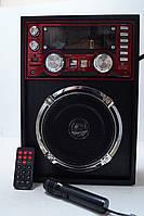 Портативна колонка SD/USB KN-771mic Karaoke, фото 1