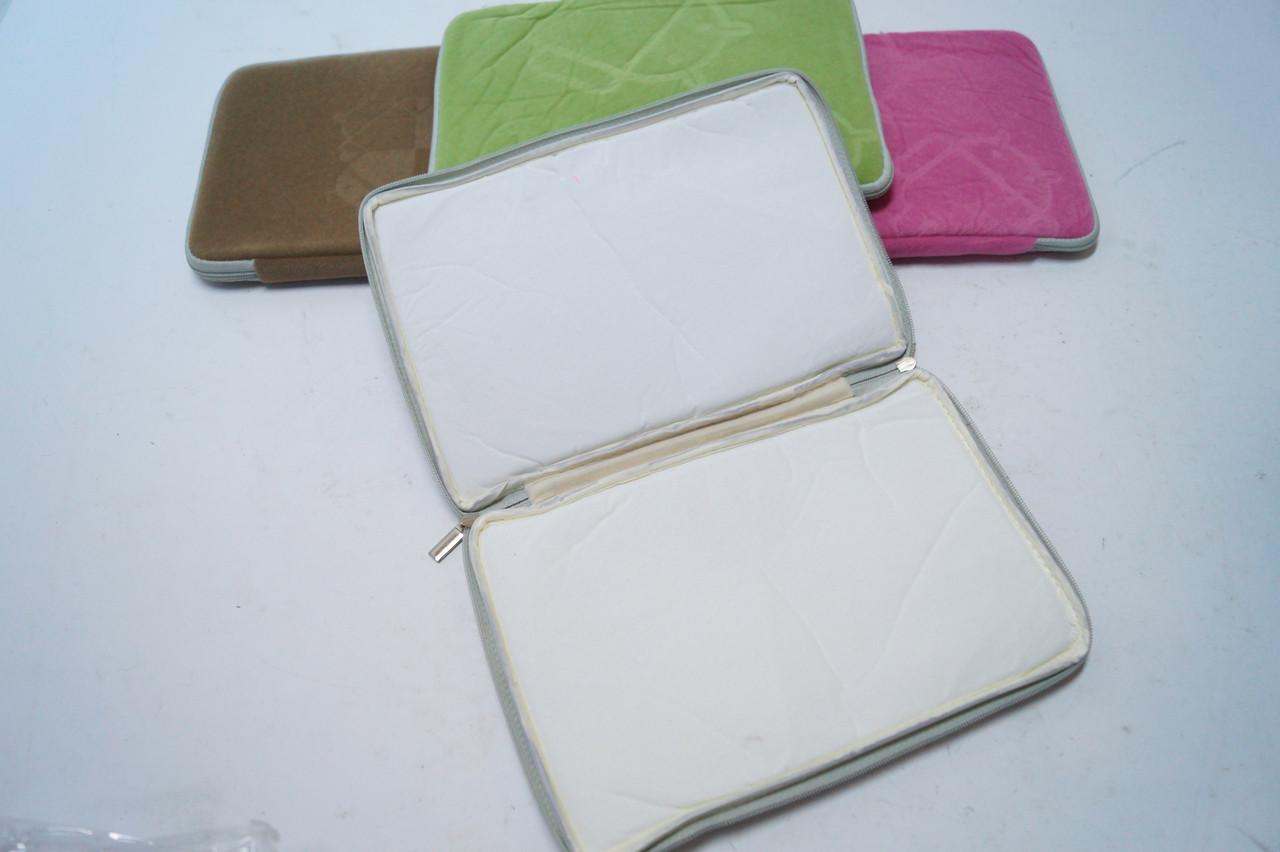 Чехлы для планшетов диагональ .7 Цветные из ткани на змейке в ассортименте