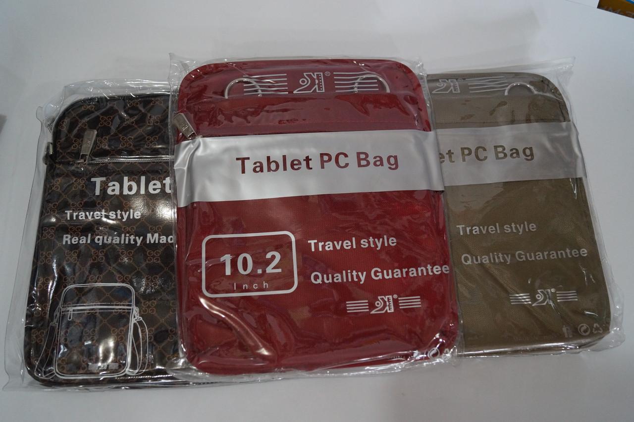 Чехлы для планшетов  диагональ 10.2 Цветные из ткани в ассортименте
