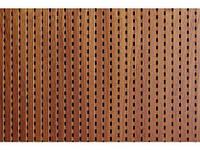 Decor Acoustic Махагони Натуральный шпон махагони Акустическая перфорированная панель на основе MDF