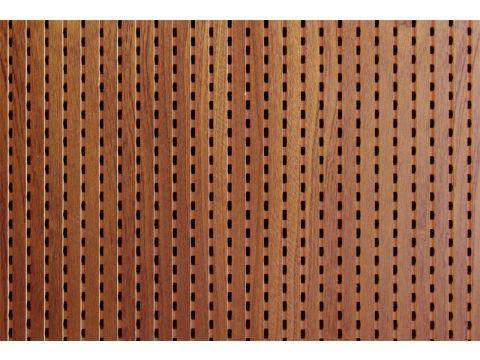 Decor Acoustic Махагони Натуральный шпон махагони Акустическая перфорированная панель на основе MDF, фото 2