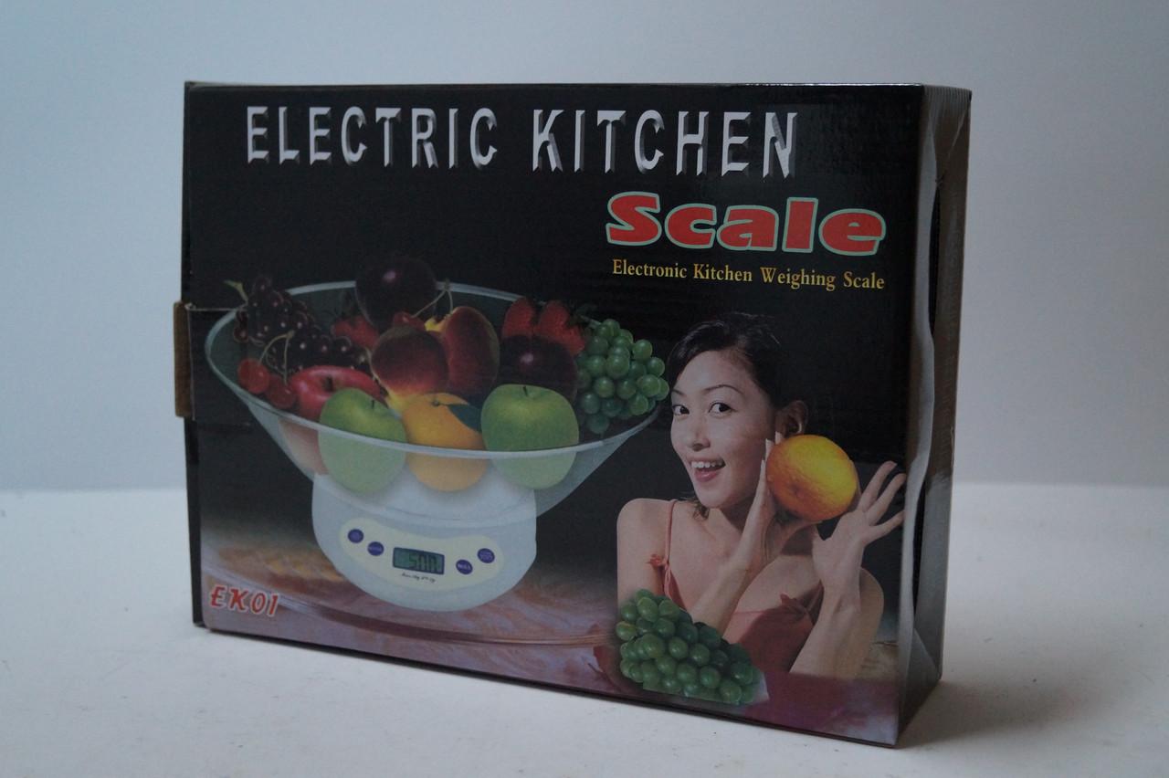 Весы кухонные с чашей 5 кг Matrix ЕK-01