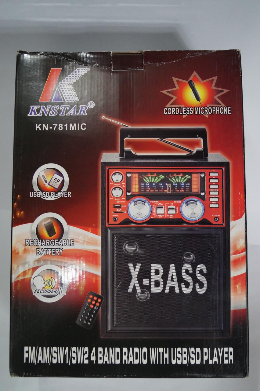 Портативная колонка   SD/USB KN-781 karaoke