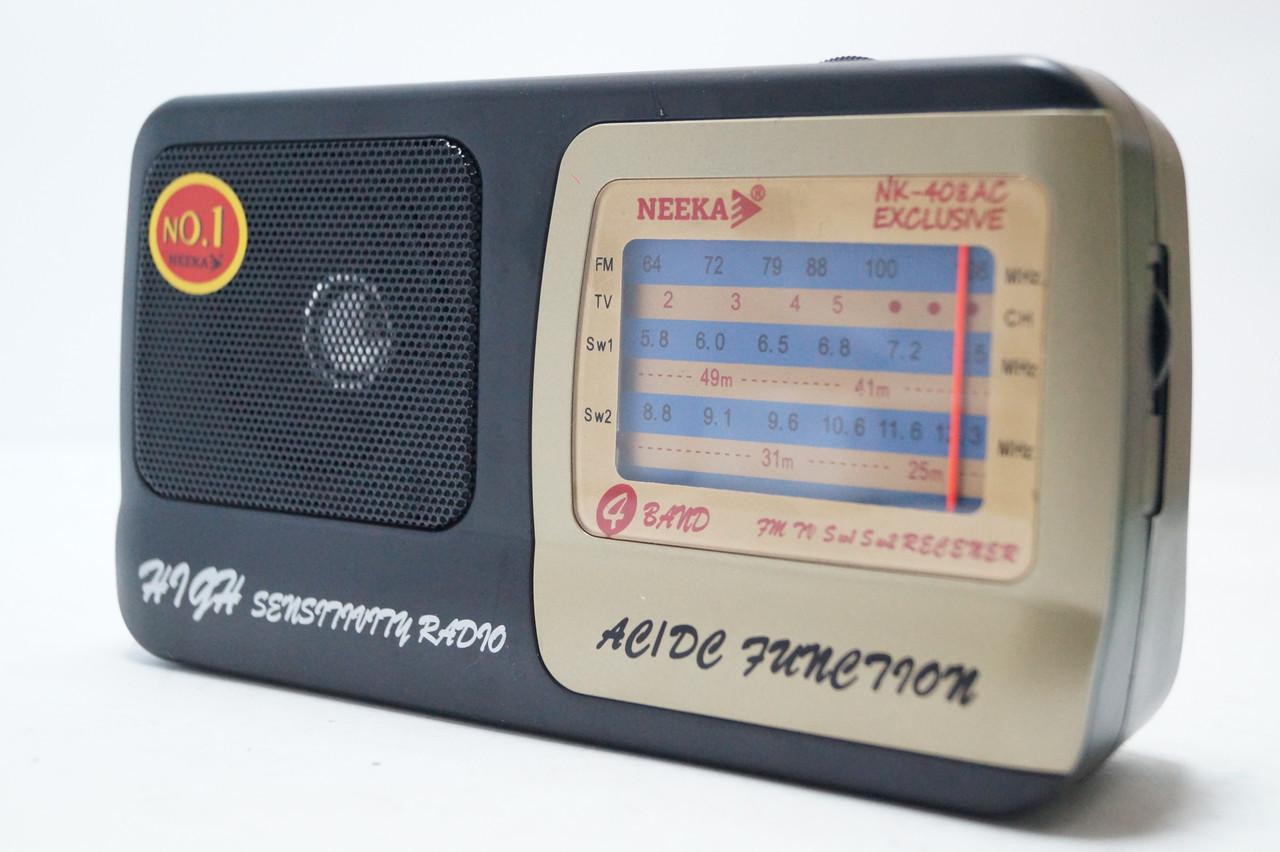 Радіоприймач переносний NEEKA NK-308АС EXCLUSIVE