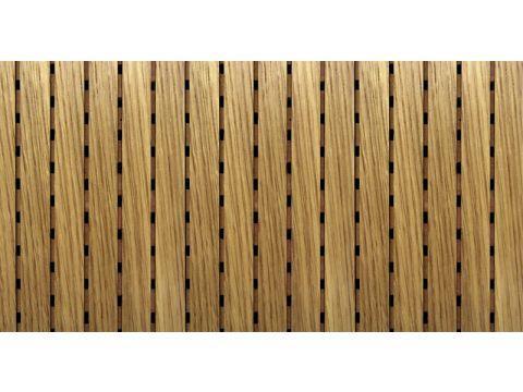 Decor Acoustic Дуб белый Натуральный шпон дуба белого Акустическая перфорированная панель на основе MDF
