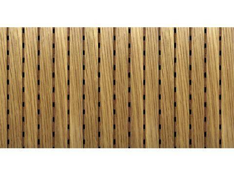 Decor Acoustic Дуб белый Натуральный шпон дуба белого Акустическая перфорированная панель на основе MDF, фото 2