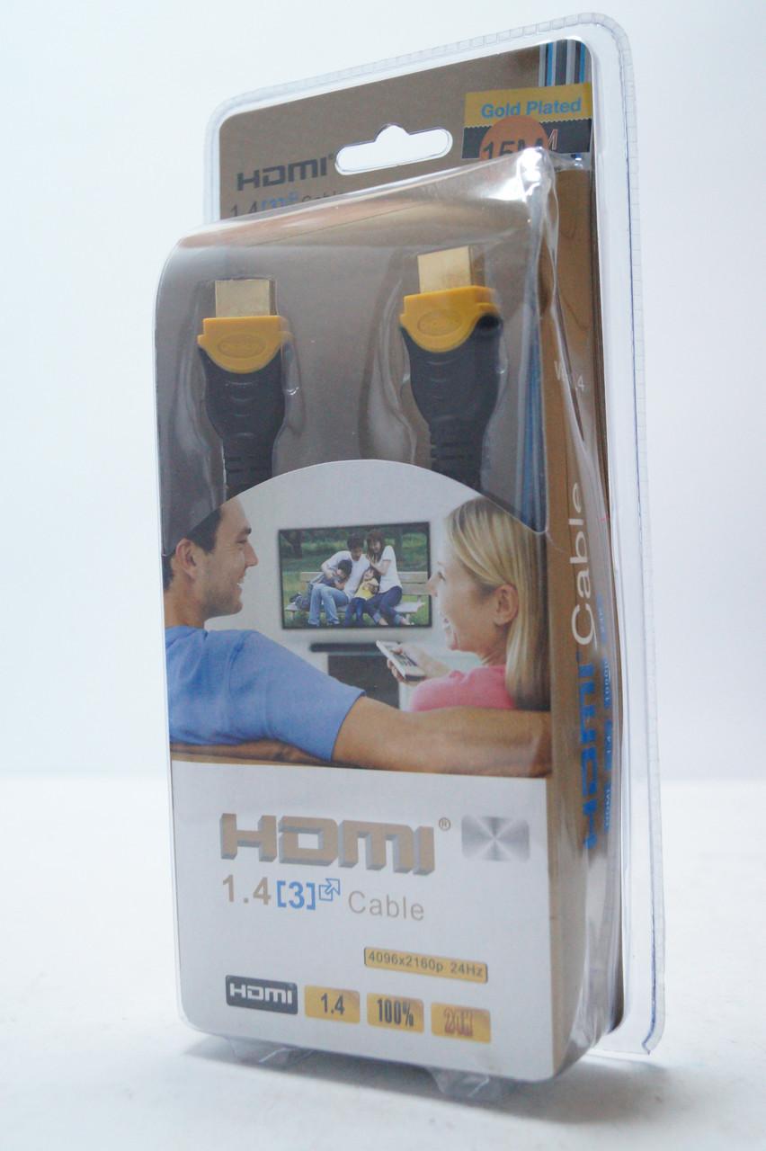 HDMI кабель 5м для ТВ и видео электроники с золотым напылением