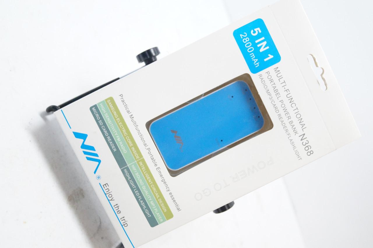 Зовнішній акумулятор Power Bank 5800mAh + MP3 плеєр