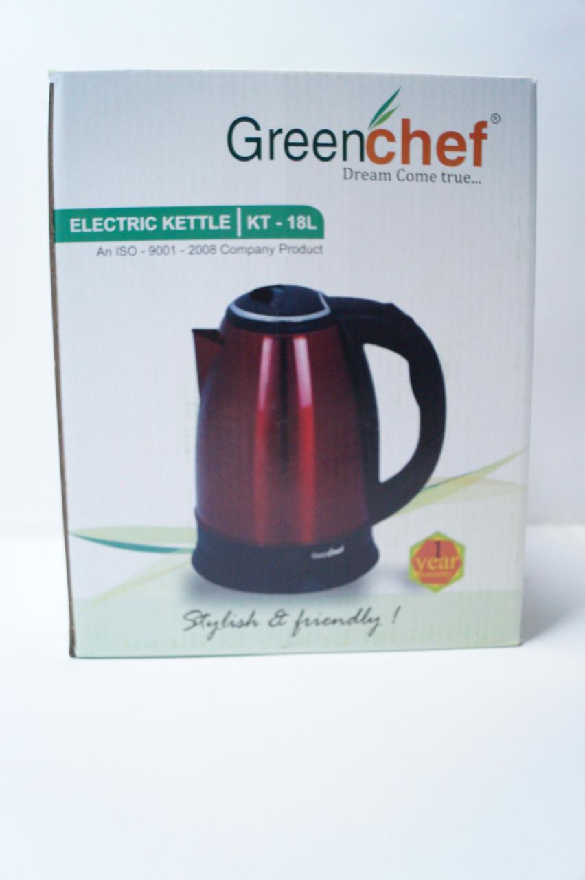 Дисковый чайник Gereenchef KT-18L RED