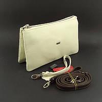 Клатч кожаный женский clutch бежевый Desisan 070 Турция