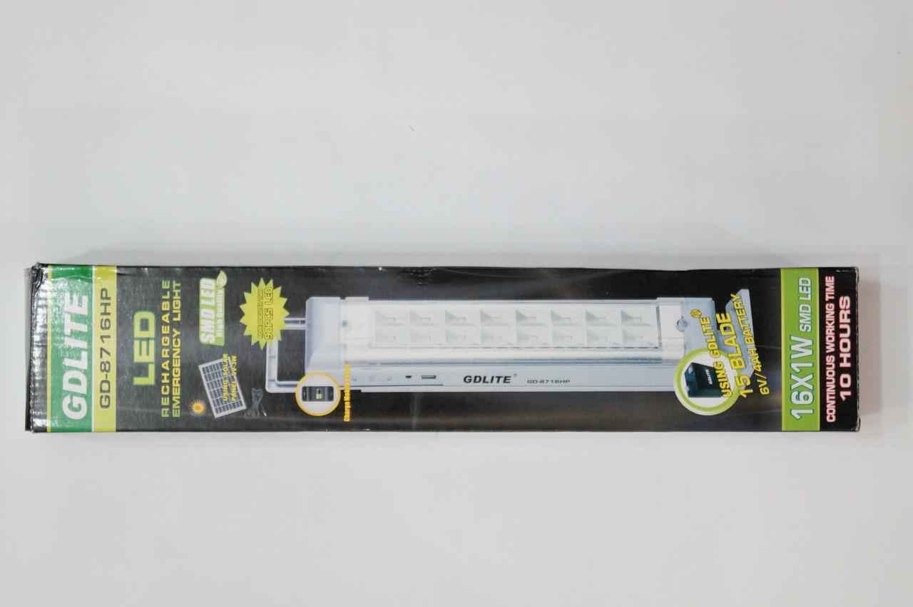GD LITE-8617HP 15LED Лампа-фонарь на аккумуляторе GDLITE 8716HP+USB