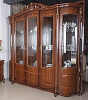 Витрина 5-ти дверная  в классическом стиле Алегро nsb
