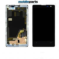 Оригинальный Дисплей (Модулль)+Сенсор (Тачскрин) для  Nokia Lumia 1020 (С рамкой) (Черный)