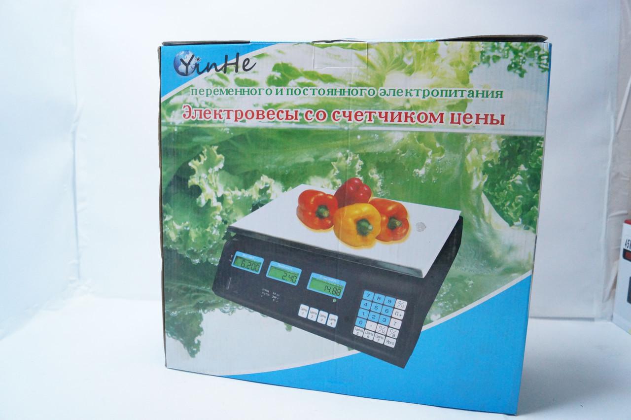 Весы торговые YinHe M2 35 кг с счетчиком цены