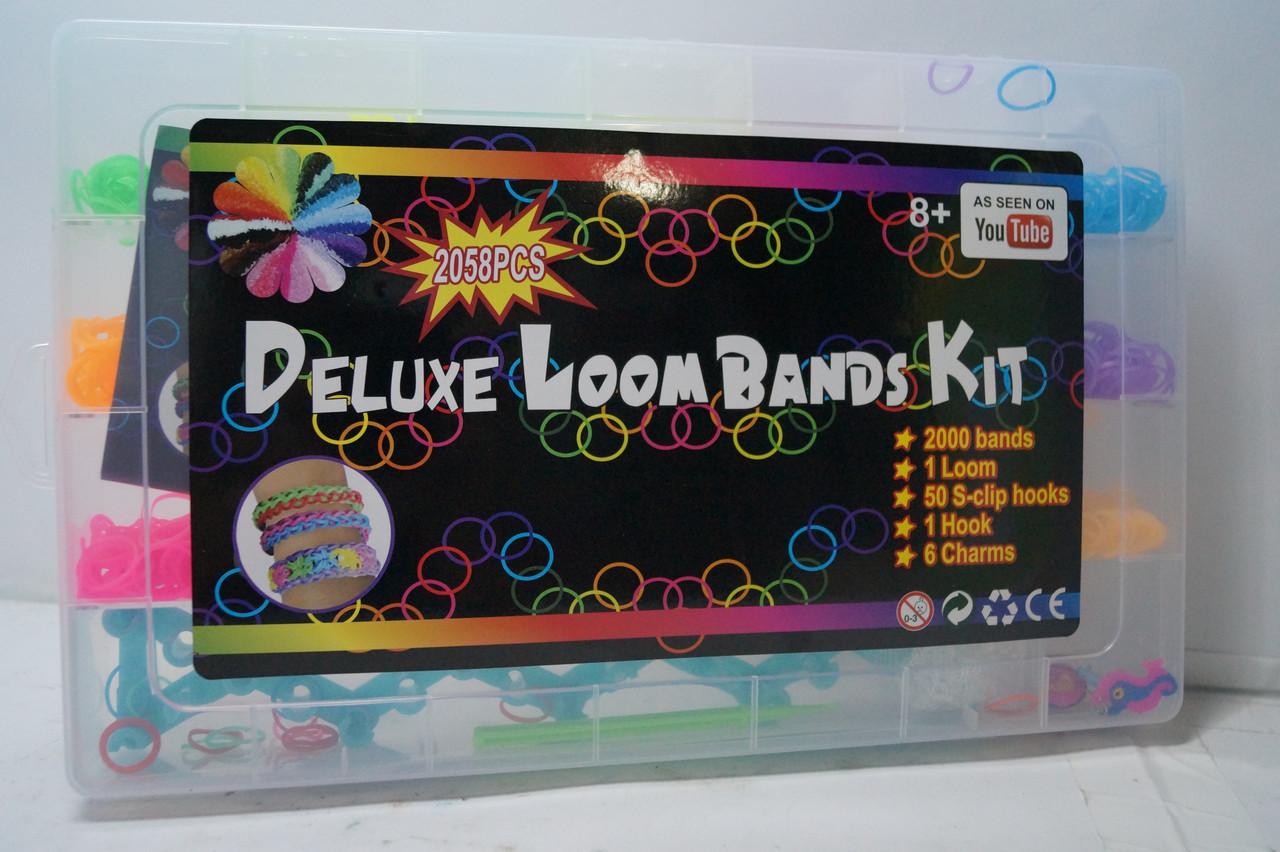 Набір кольорових резинок для плетіння браслетів Deluxe Loom Bands Kit