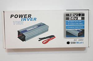 Инвентор напряжения 500w, преобразователь   12/220 500w