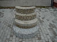 Ступени Наборные из мытого бетона