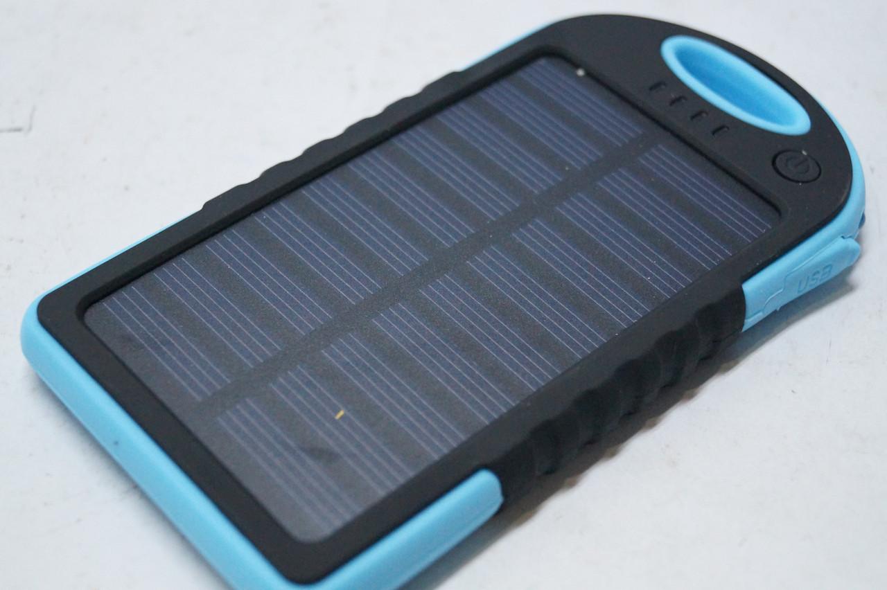 Power Bank 10000mah 2A +1A c солнечной батареей