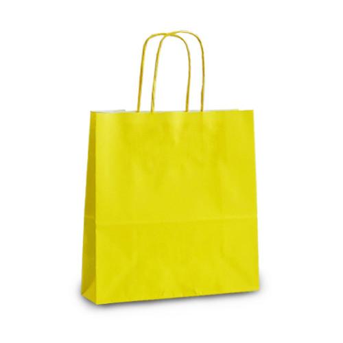 Крафт-пакет 18х08х20 желтый с витыми ручками