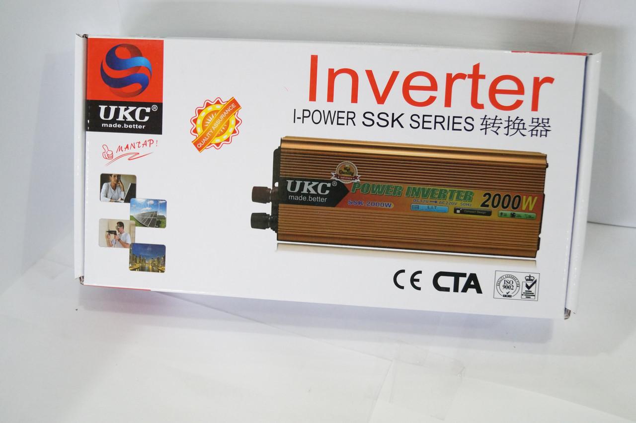 Інвертер напруги UKC 24/220 500w , перетворювач 24/220 500w