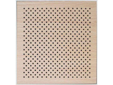 Decor Acoustic Дуб белый 16/16/10 Ch Ламинат Дуб белый Акустическая перфорированная панель на основе MDF, фото 2