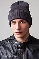 Мужская стильная шапка Пери с отворотом, р. 56-60 см