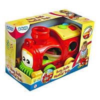 Розвиваюча іграшка BeBeLino Музыкальный поезд-Забавные мячики (55046)