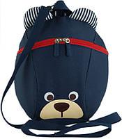"""Детский рюкзак """"Мишка"""" из полиэстера 4 л Traum 7005-33, темно-синий"""