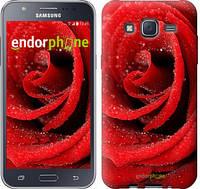 "Чехол на Samsung Galaxy J5 J500H Красная роза ""529c-100"""