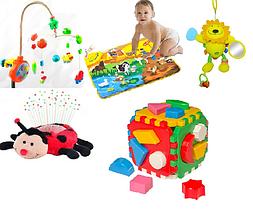 Карусели, музыкальные коврики, ночники, интерактивные игрушки