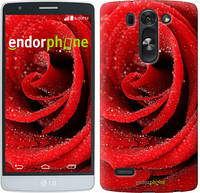 "Чехол на LG G4 Stylus H540 Красная роза ""529u-242"""