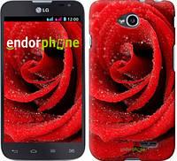 """Чехол на LG L70 Dual D325 Красная роза """"529u-201"""""""