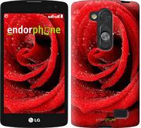 """Чехол на LG L Fino D295 Красная роза """"529u-240"""""""