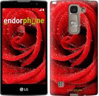 "Чехол на LG Spirit Dual H422 Красная роза ""529u-245"""