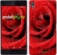 "Чехол на Sony Xperia Z3 dual D6633 Красная роза ""529c-59"""