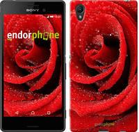 "Чехол на Sony Xperia XA Красная роза ""529c-399"""