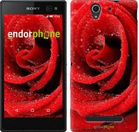 """Чехол на Sony Xperia C3 Красная роза """"529u-171"""""""
