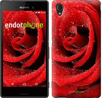 """Чехол на Sony Xperia M4 Aqua Красная роза """"529c-162"""""""