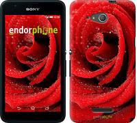 "Чехол на Sony Xperia E4g Красная роза ""529u-326"""