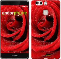 """Чехол на Huawei P9 Plus Красная роза """"529u-300"""""""