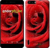 """Чехол на Huawei Honor 6 Plus Красная роза """"529u-179"""""""