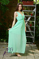 Стильное шифоновое платье в пол