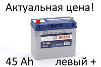 Аккумулятор Bosch 45 Ah S4 0092S40230 Пусковой ток 330 A, Левый +, Размеры на картинке