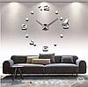 3D-Часы настенные большие с птичкой (диаметр 1 м) серебряные [Пластик], фото 2