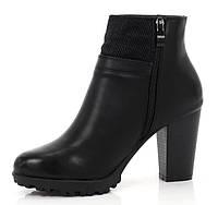 Качественные ботинки на устойчивом каблука на каждый день 36-41