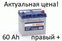 Аккумулятор Bosch S4 60 Ah 0092S40240 Пусковой ток 540 A, Правый +, Размеры на картинке