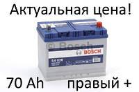 Аккумулятор Bosch S4 70 Ah 0092S40260 Пусковой ток 630 A, Правый +, Размеры на картинке